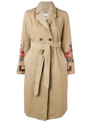 Bazar Deluxe Embroidered Trench Coat Neutrals
