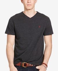Polo Ralph Lauren Men's Relaxed Fit Jersey V Neck T Shirt Black