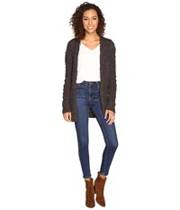 Billabong All Fur You Cardigan Off Black Women's Sweater
