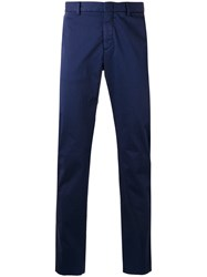 Z Zegna Plain Chinos Blue