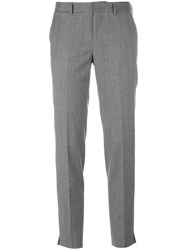 Pt01 Tailored Cropped Trousers Grey