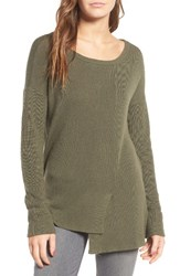 Trouve Women's Ribbed Pullover Olive Sarma