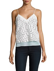 Milly Aztec Camisole Top Black