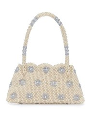 Shrimps Astrid Faux Pearl And Crystal Embellished Bag Cream Multi