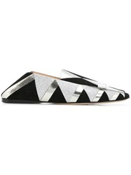Sergio Rossi Sr1 Glittered Slippers Metallic