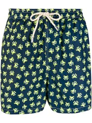 Mc2 Saint Barth Crab Printed Swim Shorts Blue
