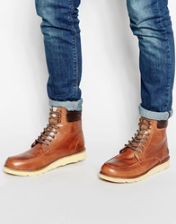Original Penguin New England Moccason Boots Tan