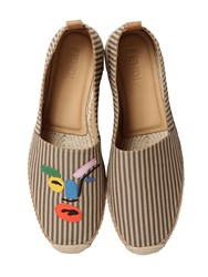 Fendi John Booth Face Canvas Espadrilles