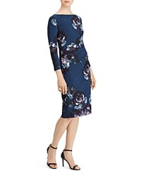 Ralph Lauren Floral Jersey Dress Luxe Beryl Plum Multi