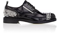 Loewe Men's Studded Leather Cap Toe Bluchers Black