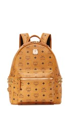 Mcm Small Backpack Cognac