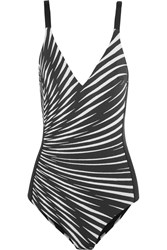 La Perla Op Art Printed Swimsuit Black