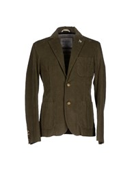 Geospirit Suits And Jackets Blazers Men Military Green
