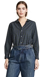 Frank And Eileen Button Down Grey Green Navy Yellow Plaid