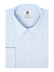Paul Smith Men's Ps By Tailored Fit Small Collared Shirt Sky Blue