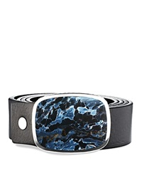 David Yurman Exotic Stone Belt Buckle With Pietersite Silver Multi