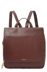 Fossil 'Preston' Leather Backpack