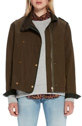 Scotch And Soda Boxy Double Breasted Jacket Forest
