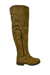 Twisted Layla Knee High Boot Brown