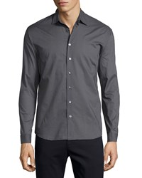 Atm Anthony Thomas Melillo Classic Button Down Sport Shirt Fatigue Black Red