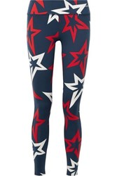 Perfect Moment Starlight Printed Stretch Leggings Navy