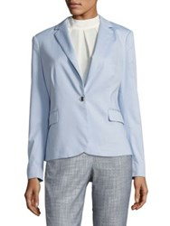 Imnyc Isaac Mizrahi Stretch Cotton Blazer Light Blue