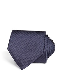 Theory Coupe Thurle Tonal Box Check Classic Tie Navy