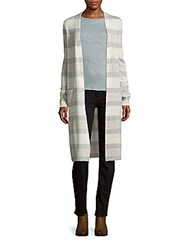 Saks Fifth Avenue Striped Cashmere Duster Jacket