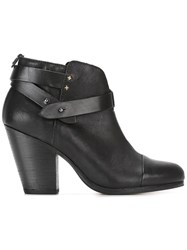 Rag And Bone Straps Ankle Boots Black