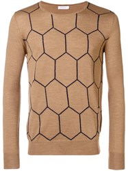 Boglioli Knit Patterned Sweater Nude And Neutrals