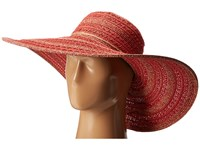 San Diego Hat Company Ubl6489 Round Crown Stripe Ultrabraid Floppy Red Traditional Hats