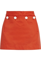 Acne Studios Dance Bonded Cotton Mini Skirt Red