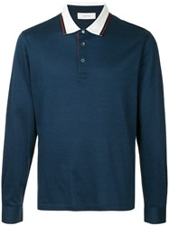 Cerruti 1881 Long Sleeve Polo Shirt Blue