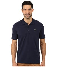 Lacoste Sport Golf Short Sleeve Super Light Stretch Solid Polo Navy Blue Men's Short Sleeve Pullover