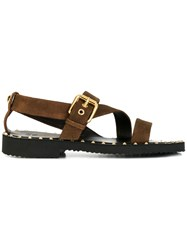 Giuseppe Zanotti Design Stud Detail Sandals Brown