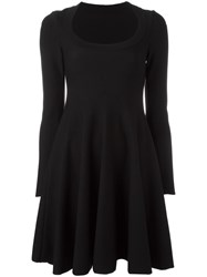 Azzedine Alaia Godet Hem Dress Black