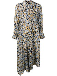 Christian Wijnants Dhana Foliage Print Dress Blue