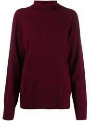 Maison Martin Margiela Roll Neck Sweater Red