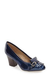 Isola Women's 'Tara' Kiltie Pump Ink Blue Patent