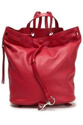 Rebecca Minkoff Woman Smooth And Textured Leather Backpack Claret