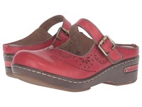 Spring Step Aneria Red Women's Clog Mule Shoes