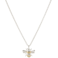 Martick Silver And Gold Plated Bee Pendant Necklace