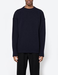 Our Legacy Big Crew Neck Navy Merino