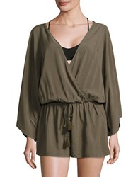 Vince Camuto Pacific Coast Studded Cover Up Romper Green