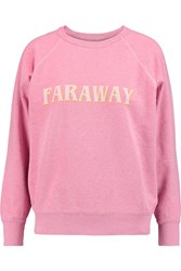 Etoile Isabel Marant East Printed Cotton Blend Jersey Sweatshirt Pink