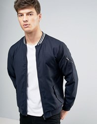 Casual Friday Bomber Jacket In Pinstripe Navy