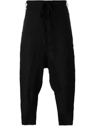 Lost And Found Rooms Cropped Drop Crotch Trousers Black