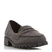 Head Over Heels Gissell Heavy Cleated Loafers Grey