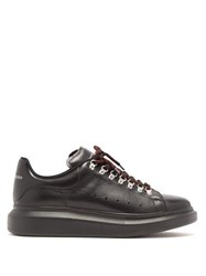 Alexander Mcqueen Raised Sole Hiking Low Top Leather Trainers Black