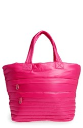 Sondra Roberts Quilted Nylon Tote Pink Fuchsia